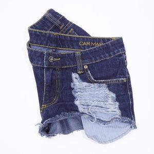 Carmar Distressed Cheeky Denim Shorts Boho